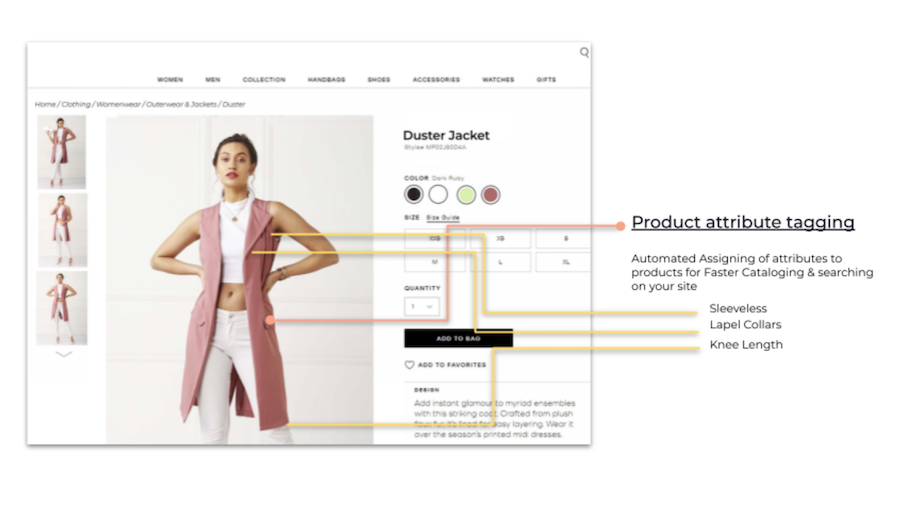 Product attribute tagging